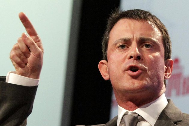 France's Interior Minister Manuel Valls delivers a speech during the Socialist Party's annual congress in Toulouse