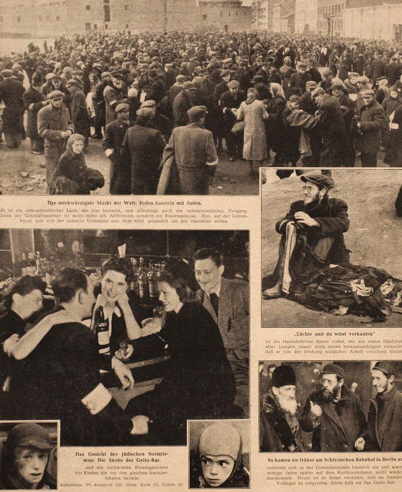 Cliché n°6 - Journal de propagande nazie, Les Juifs entre eux, Berliner Illustriete Zeitung, 24 juillet 1941. Collection particulière.