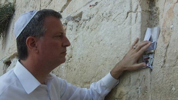 Bill-de-Blasio-at-the-Western-Wall
