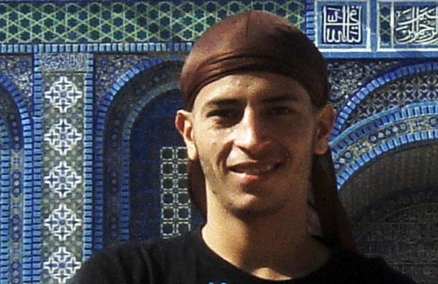 Mohamed Merah devant le Dôme du Rocher à Jérusalem.