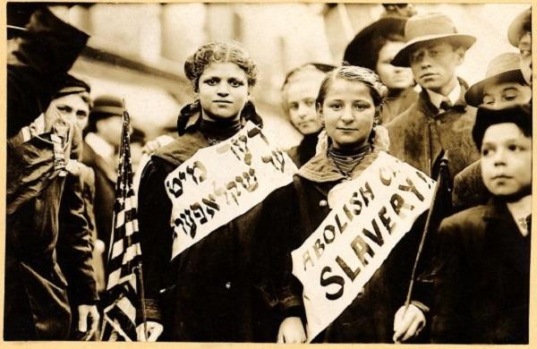 Des jeunes juives militent contre le travail des enfants -1909