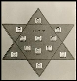 Carte postale de l'UST des années 1940